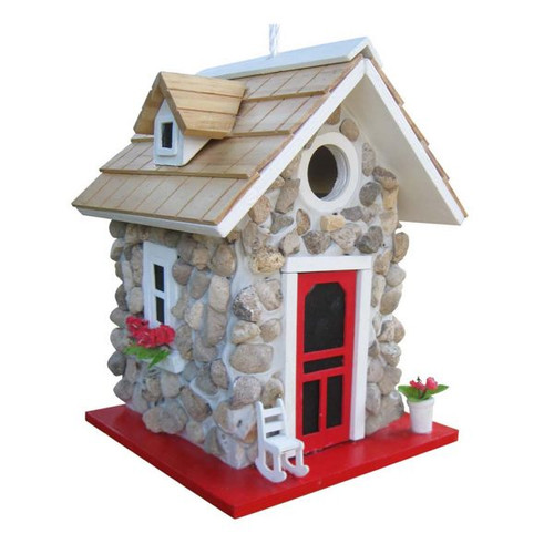 Fieldstone Guest Cottage Birdhouse by Home Bazaar