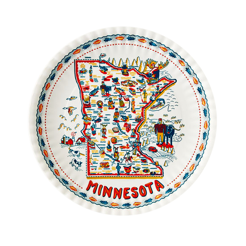 """Minnesota """"In the Woods"""" Paper/Melamine  Plates (Set of 4)"""