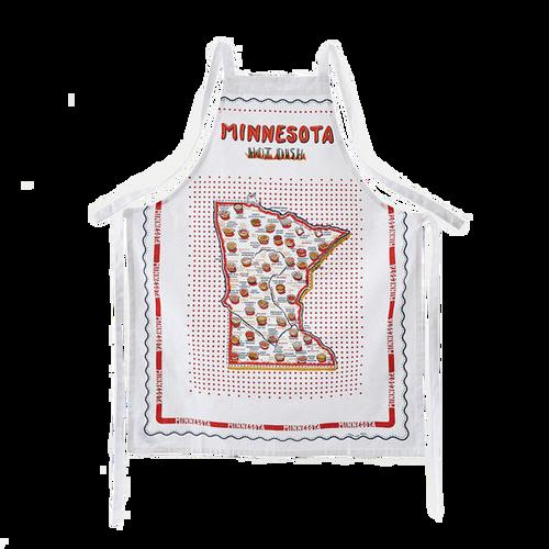"Minnesota ""Hot Dish"" Apron 100% Cotton Fabric"