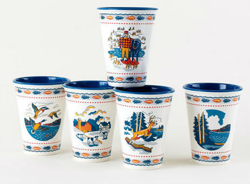 """Minnesota """"In the Woods"""" Paper/Melamine  Cup/Tumbler (Set of 4)"""
