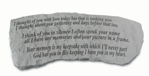 I Thought Of You…Memory Stone Bench