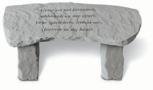 Gone Yet Not Forgotten…Memory Stone Bench