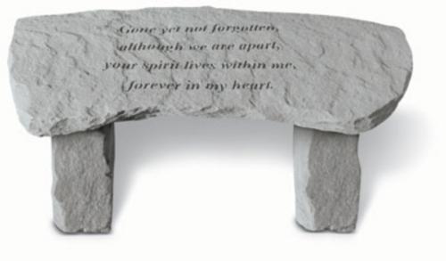 Gone Yet Not Forgotten…Memory Stone Bench