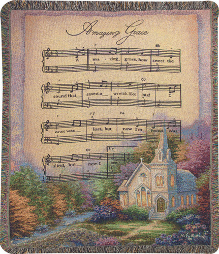 Church in the Country/Amazing Grace Throw Blanket
