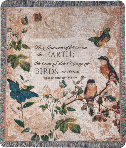 The Flowers Appear on the Earth Throw Blanket