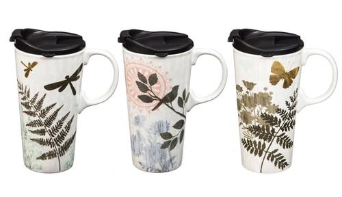 Ceramic Travel Cup, 17 OZ. w/Box