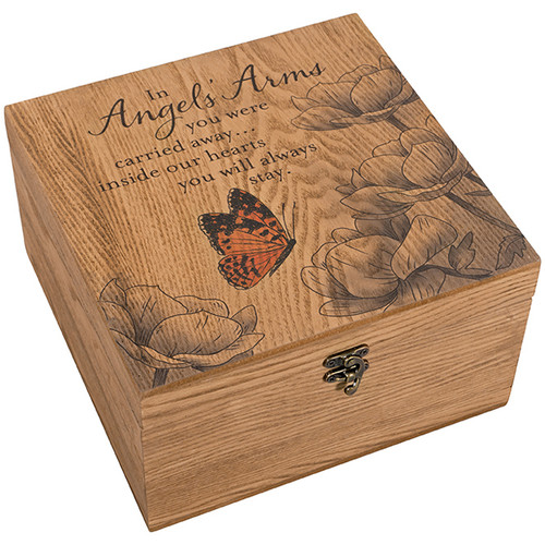 """Angels' Arms"" Keepsake Memory Box"