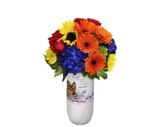 """""""Faith"""" Vase"""