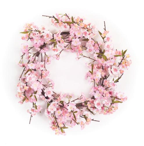 "Artifical Cherry Blossom Wreath  21.5"""