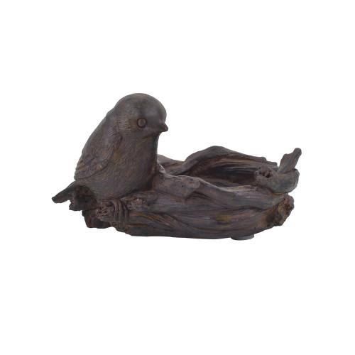 Resin Bird w/ Nest Tealight Holder