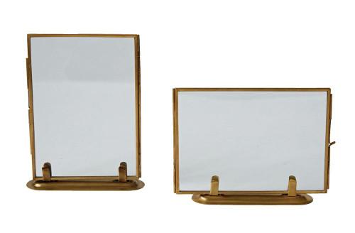 Brass & Glass Standing Photo Frame, 2 Styles