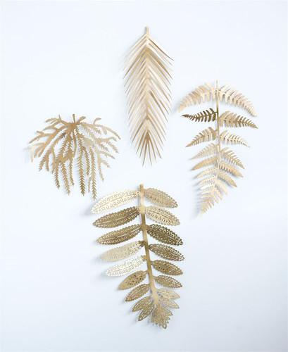 Metal Leaf, Antique Brass Finish, 4 Styles