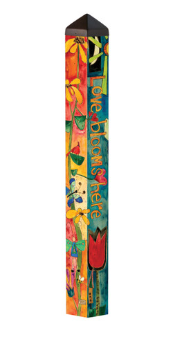 "Love Garden 40"" Art Pole"