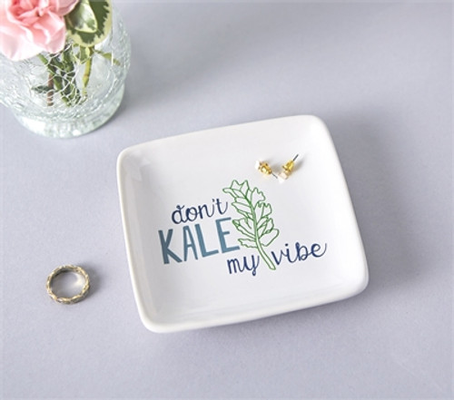 Don't Kale My Vibe Trinket Dish