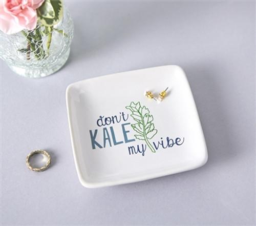 Don't Kale My Vibe Trinket Dish