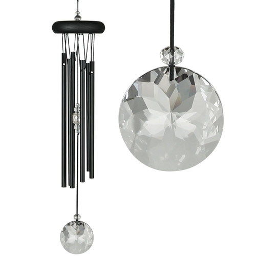 Crystal Meditation Chime by Woodstock - Black