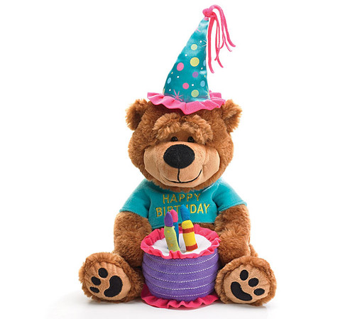 Musical Birthday Bear and Cake