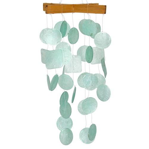Mini Capiz Chime by Woodstock - Aqua