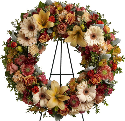 Colorful Wreath of Remembrance