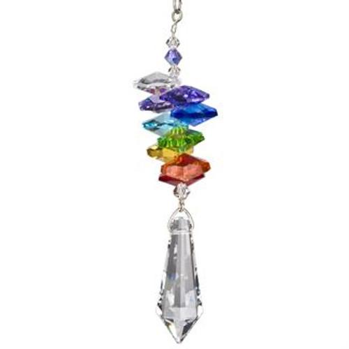 Crystal Rainbow Cascade Suncatcher  by Woodstock - Icicle