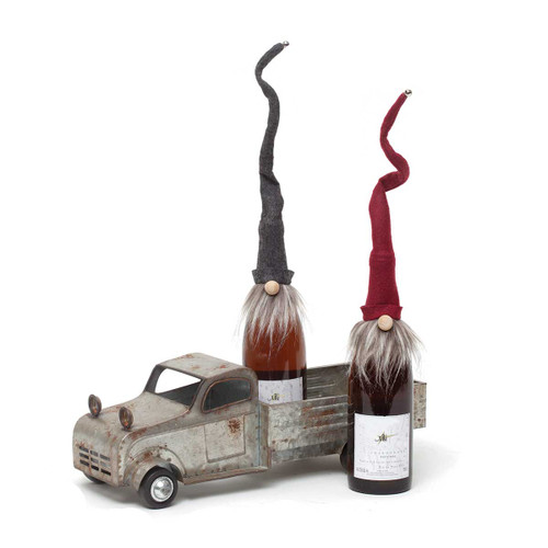 """18"""" GNOME BOTTLE TOPPERS - TWO ASSORTED GIFT SET"""