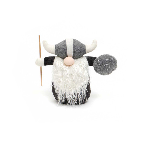 """7"""" THOR VIKING GNOME WITH STAFF AND SHEILD"""