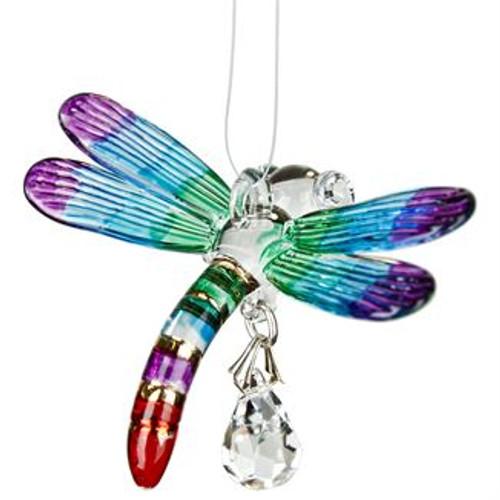 Fantasy Glass Suncatcher by Woodstock - Dragonfly, Summer Rainbow