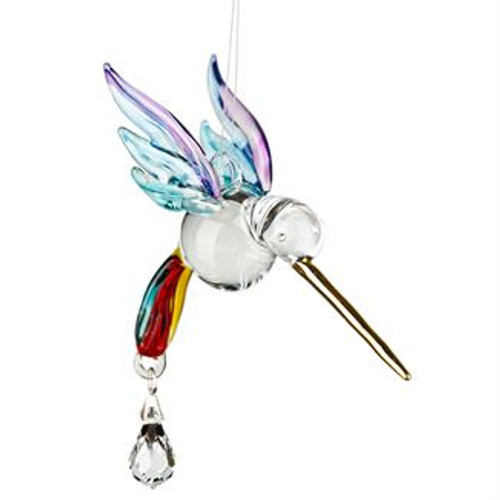 Fantasy Glass Suncatcher by Woodstock - Hummingbird, Summer Rainbow