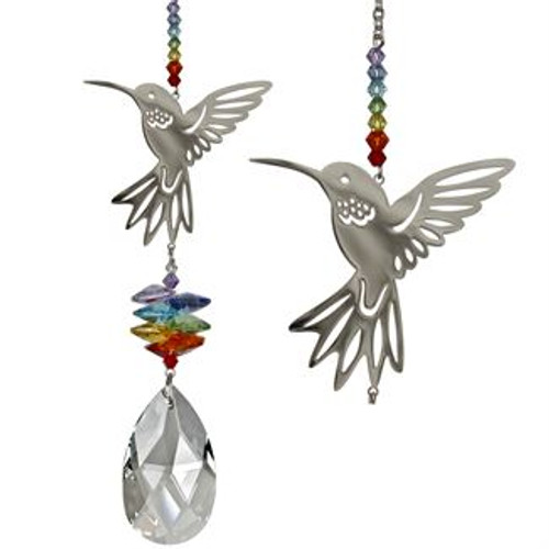 Crystal Fantasy Suncatcher by Woodstock - Large, Hummingbird