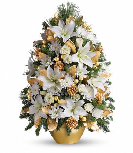 Celebration Tree ~ Fresh Greens & Flowers T131-2A