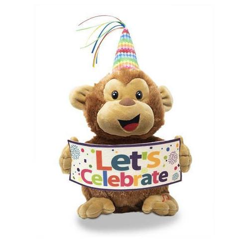 """11"""" Hooray Harry Singing """"Celebration"""" Monkey Plush"""
