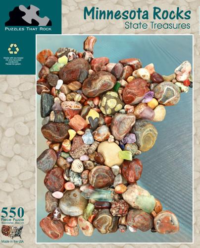 Minnesota Rocks Puzzle Map