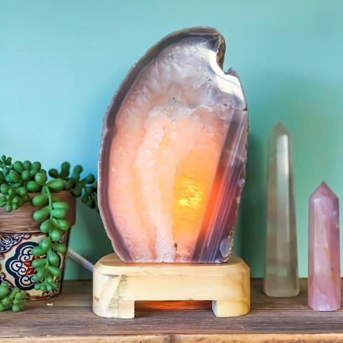 Natural Agate Lamp