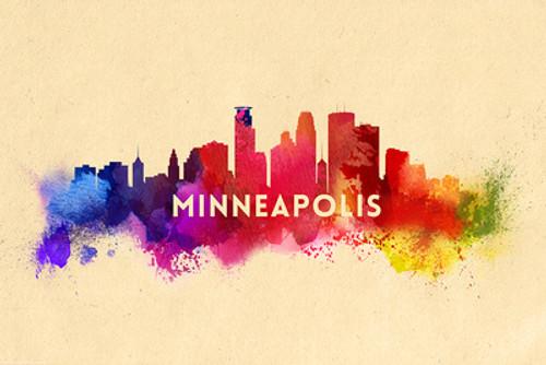 TOWEL Minneapolis, Minnesota Skyline Abstract