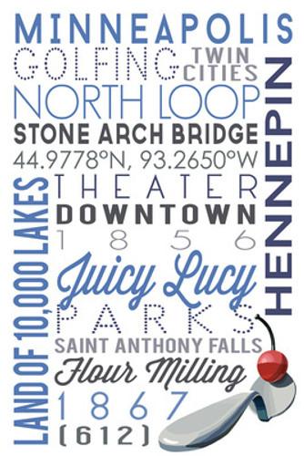 TOWEL Minneapolis, Minnesota Typography