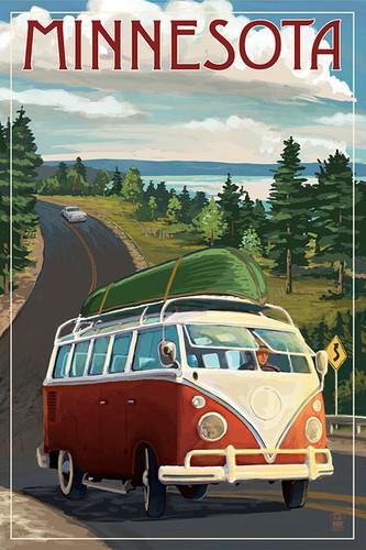 TOWEL Minnesota Camper Van and Lake