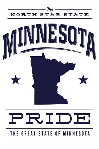 Minnesota State Pride - Blue on White Ceramic Coasters ~ Set of Four