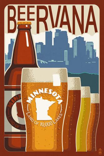 TOWEL Minnesota Beervana Vintage Sign