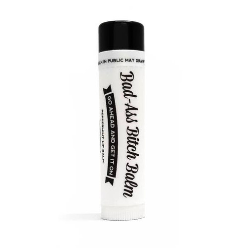 Bad-Ass Bitch Balm - TWO-  All Natural & Organic Lip Balm (Peppermint)by Ms Betty's Orginals