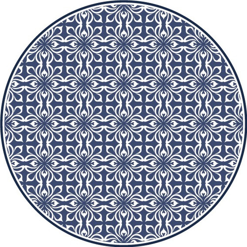 Tile Look Round Vinyl Coaster -Set of 6-Park_A