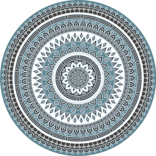 Tile Look Round Vinyl Coaster -Set of 6-Maya_G