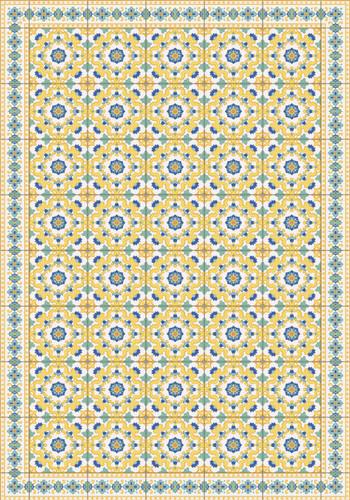Tile Look Vinyl Placemat Rigid -Set of 6 -Calidoscopi-_Y
