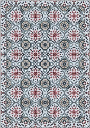 Tile Look Vinyl Placemat Rigid -Set of 6-Flake _A