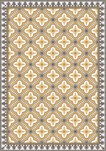 Tile Look Vinyl Placemat Rigid -Set of 6-Castelo_D