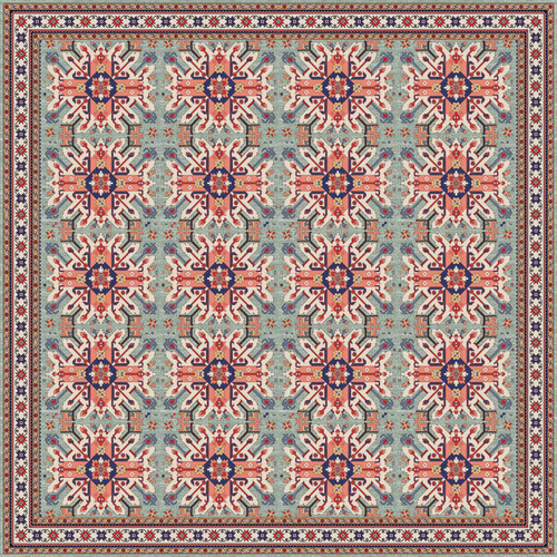 Tile Look Vinyl Doormat, Runner or Area Rug - Mullah_T