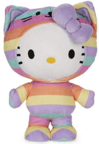 "9"" Rainbow Hello Kitty Plush by GUND"
