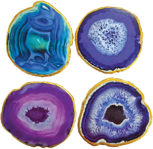 Agate Wood Coasters