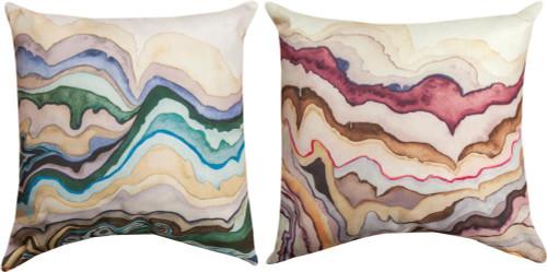 """Quartz Lore 18""""x18"""" Climateweave Indoor/Outdoor Pillow"""