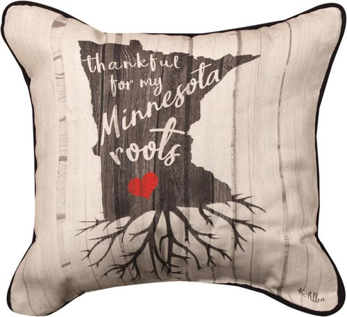 Thankful for My Minnesota Roots Throw Pillow