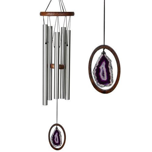 Agate Wind Chime by Woodstock -LARGE Purple